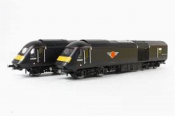 Hornby R2705TTS Grand Central Trains Class 43 HST with DCC and Twin Hornby TTS with Mega Base Speakers by Roads & Rails. Separated Front Side View