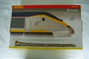 Hornby R2379 Eurostar 6 Car Train Pack Dcc Fitted with Directional Lighting. Box View