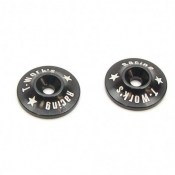 T-Works TO-004BK 1-8th Aluminium Wing Buttons Black 2pcs