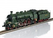 Trix 22403 Class S 3/6 Steam Locomotive the Hochhaxige / High Stepper On Track Front Side View