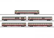 Trix T23475 TEE 32 Parsifal Passenger Car-Set - 5 Cars DB with internal lighting switchable from a digital decoder. Stacked View
