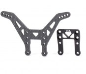 RDRP0204 Carbon fibre rear shock tower with alloy support brace (Kyosho Ultima RB6)