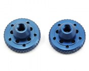 RDRP0264-BL Blue aluminium battery plate thumb nut set (B5 B5M T5M SC5M)